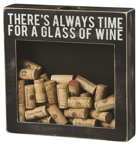 Glass of Wine Shadow Box - Isabella: Gifts with Spirit