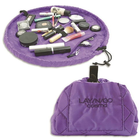 Lay-n-Go Cosmetic Bag-Purple - Isabella: Gifts with Spirit