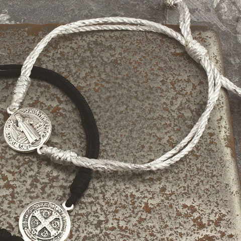 Serenity Blessing Bracelet-Silver Cord - Isabella: Gifts with Spirit
