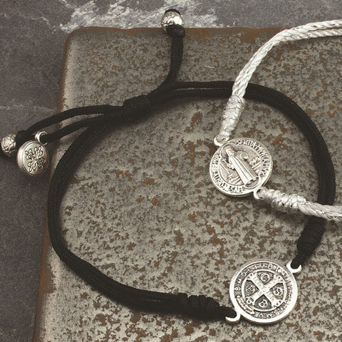Serenity Blessing Bracelet-Black Cord - Isabella: Gifts with Spirit