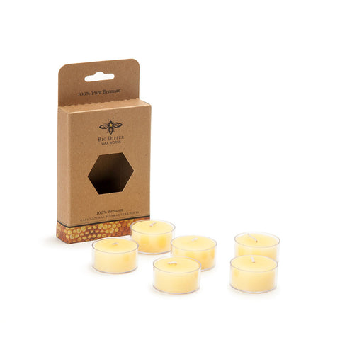 Beeswax Tea Lights - Set of 6 - Isabella: Gifts with Spirit