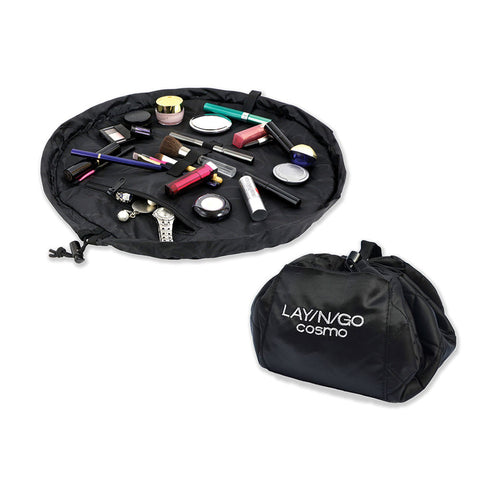 Lay-n-Go Cosmetic Bag - Black - Isabella: Gifts with Spirit