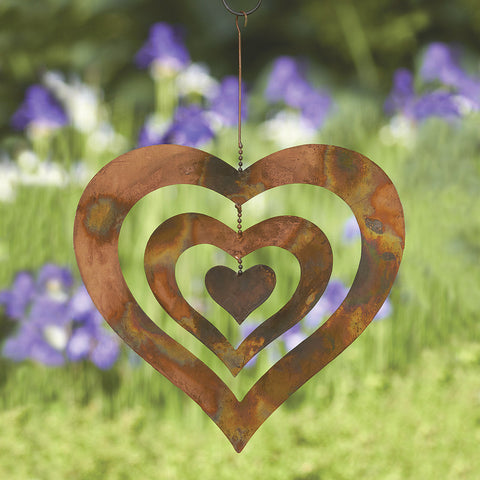 Triple-Heart Wind Spinner - Large - Isabella Catalog