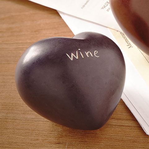 Wine Heart Paperweight - Isabella: Gifts with Spirit