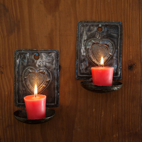 Heart Sconce Set - Isabella: Gifts with Spirit