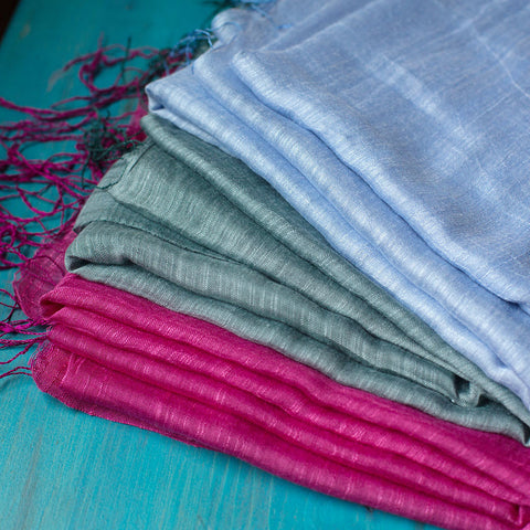 Silk and Linen Breeze Shawl - Isabella: Gifts with Spirit - 1