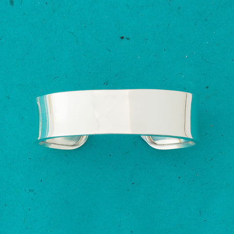 Sterling Silver Concave Cuff