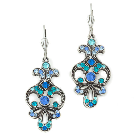 Ocean Waves Chandelier Earrings - Isabella: Gifts with Spirit - 1
