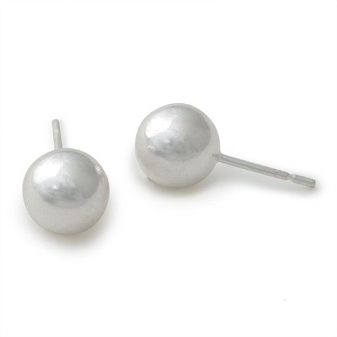 Sterling Silver Ball Stud Earrings - Isabella: Gifts with Spirit