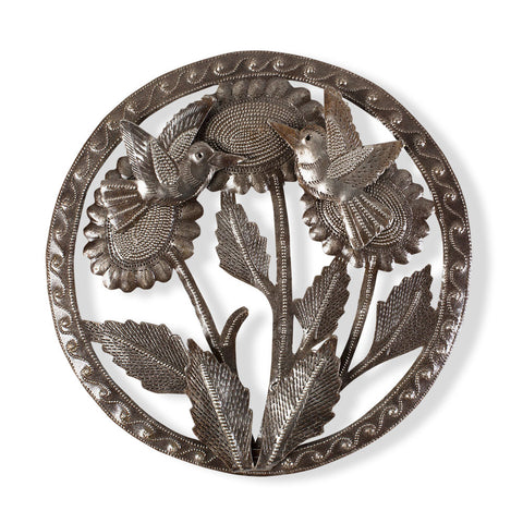 Birds and Sunflowers Metal Art - Isabella: Gifts with Spirit