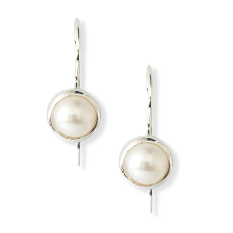 Pearl Bezel Earrings - Isabella: Gifts with Spirit