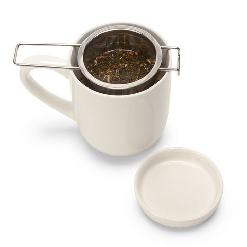 Tea Infuser and Porcelain Dish Set - Isabella: Gifts with Spirit - 1