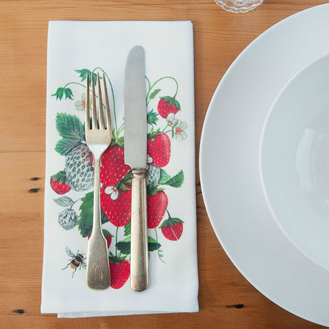 Strawberry Flour Sack Napkins - Isabella: Gifts with Spirit