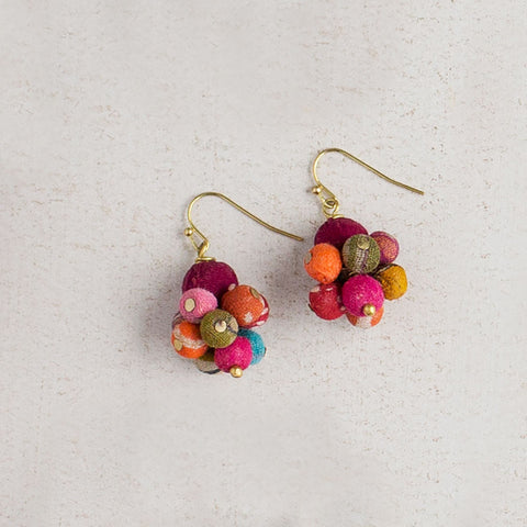Kantha Bead Drop Earrings - Isabella: Gifts with Spirit