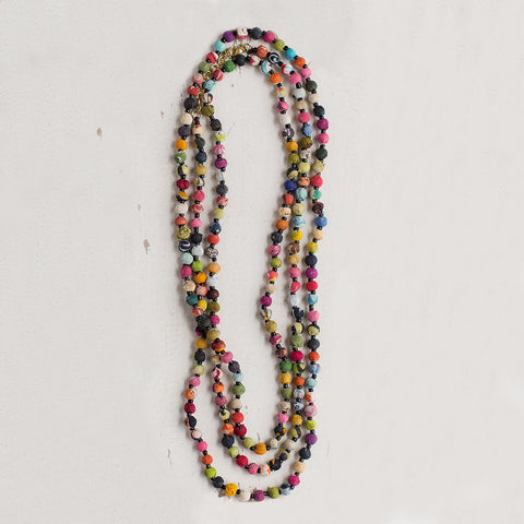Kantha Bead Long Necklace - Isabella: Gifts with Spirit