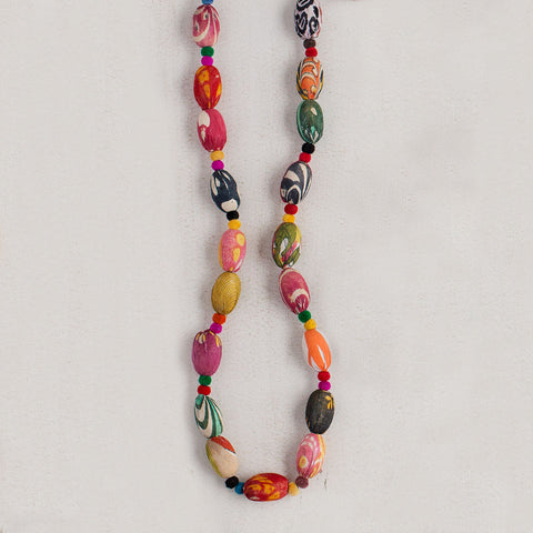 Large Kantha Bead Necklace - Isabella: Gifts with Spirit