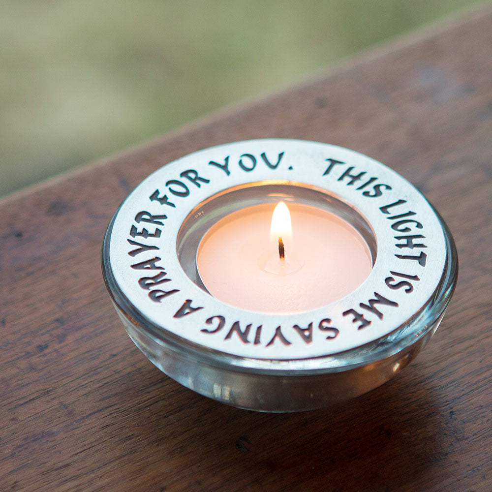 praying for you tea light holder isabella gifts with spirit