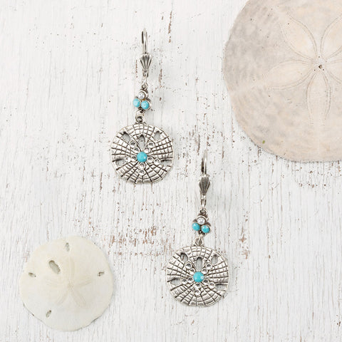 Sand Dollar Earrings - Isabella: Gifts with Spirit