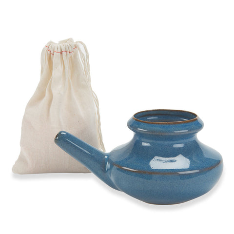 Ceramic Neti Pot with Himalayan Salt - Isabella: Gifts with Spirit