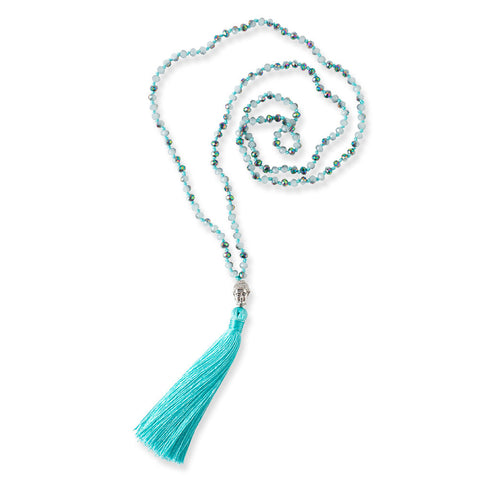 Turquoise Buddha Tassel Necklace - Isabella: Gifts with Spirit