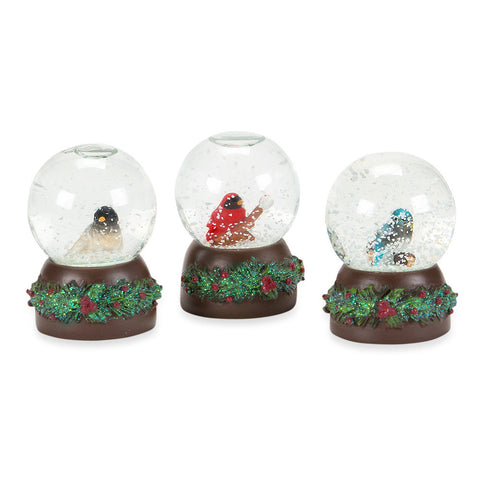 Baby Bird Snow Globe Trio