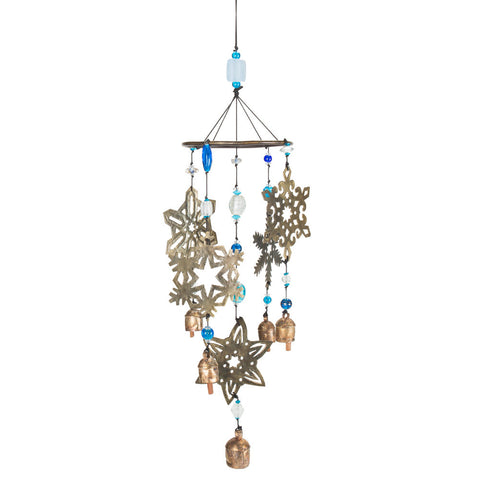 Large Snowflake Wind Chime - Isabella Catalog