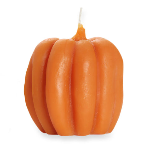 Beeswax Pumpkin Candle - Light Orange