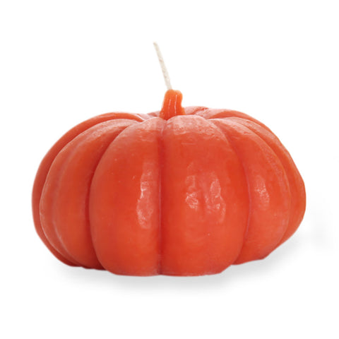 Beeswax Pumpkin Candles - Dark Orange