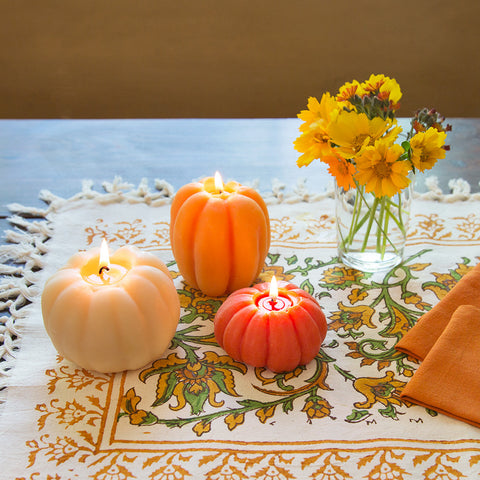 Beeswax Pumpkin Candles—Set of 3