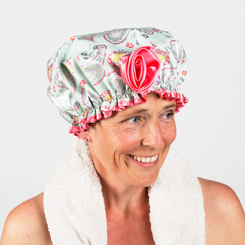 Bath Diva Shower Cap - Paisley