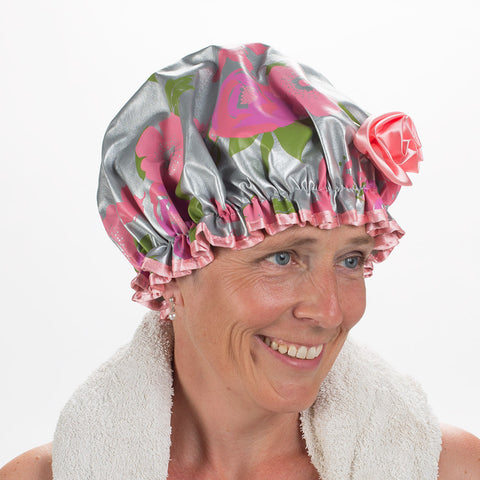 Bath Diva Shower Cap - Floral