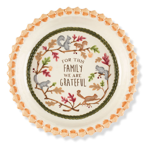 Grateful Family Pie Plate