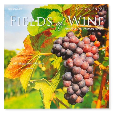 Fields of Wine 2017 Calendar