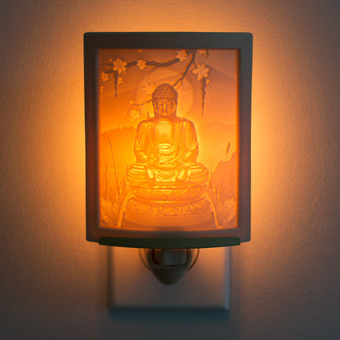Porcelain Buddha Night Light
