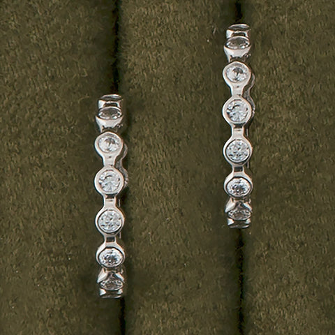 Silver and Sparkle Hoops
