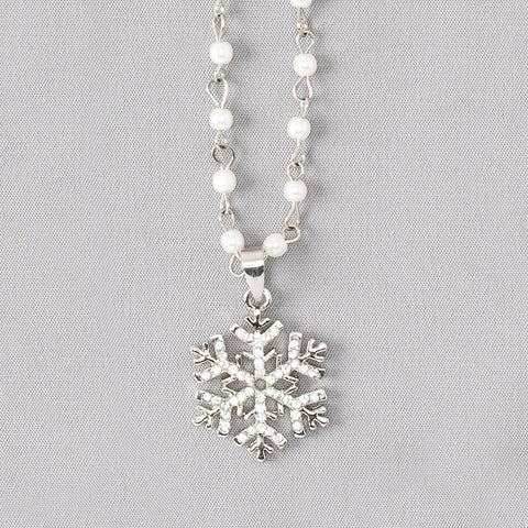 Crystal Snowflake Necklace - Isabella Catalog