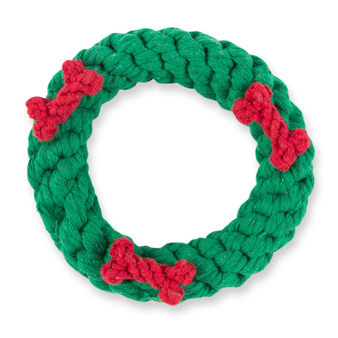 Christmas Wreath Rope Dog Toy