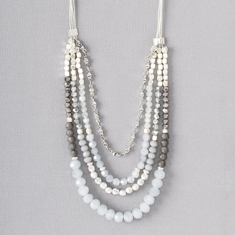 Four-Strand Faceted Ice Necklace - Isabella Catalog