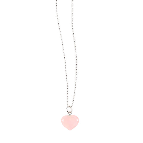 Rose Quartz Heart Pendant - Isabella Catalog