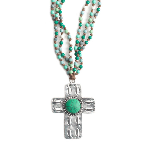 Turquoise Cross Necklace - Isabella Catalog