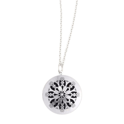Silver Diffuser Necklace - Isabella Catalog