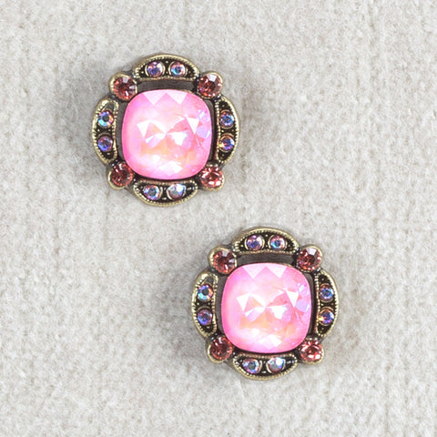 Pink Swarovski Crystal Earrings - Isabella Catalog