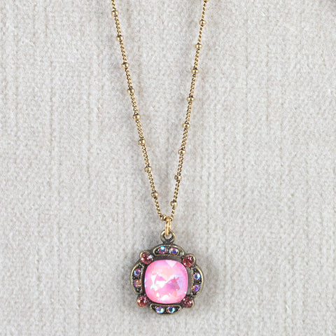 Pink Swarovski Crystal Necklace - Isabella Catalog