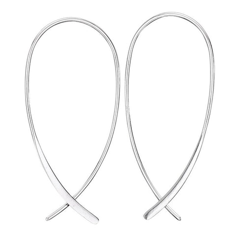 Silver Swoop Earrings- Isabella
