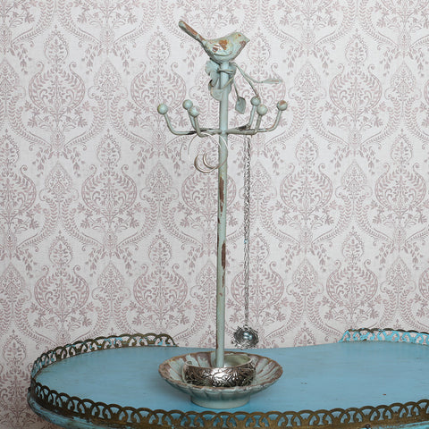 Vintage Bird & Flower Jewelry Stand - Isabella Catalog