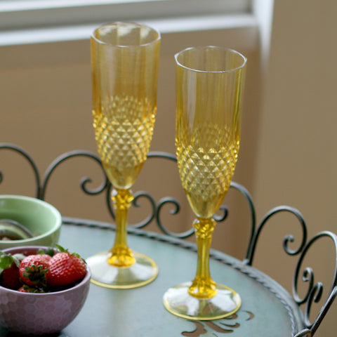 Gold Champagne Flute - Set of Two - Isabella Catalog