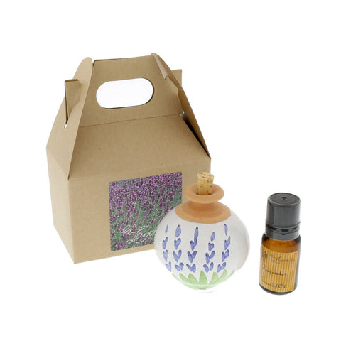 Lavender Scent Diffuser & Essential Oil Gift Set- Isabella