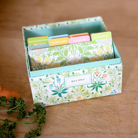 Garden Floral Recipe Box - Isabella Catalog