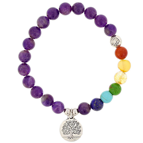 Purple Tree of Life Bracelet - Isabella Catalog