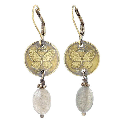 Butterfly Coin Earrings - Isabella Catalog